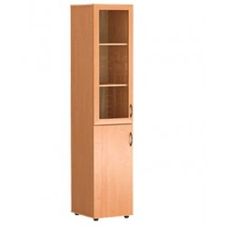 Шкаф узкий со стеклом 430 x 450 x 2010 (Серия В)
