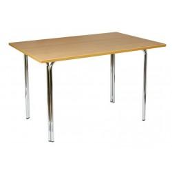 Прямоугольный стол 120х80 ЛДСП на подстолье Квадро
