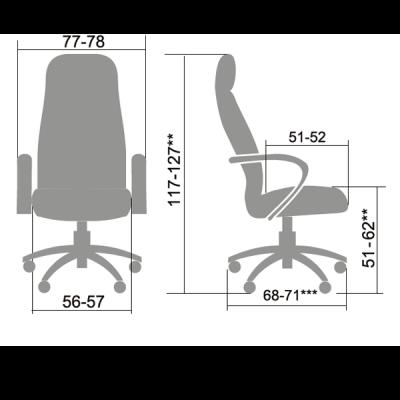 Кресло руководителя Metta LK-13 (пятилучье — пластик)