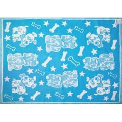 Одеяло байковое Жаккард детский рисунок 140Х100 [кодОП16]