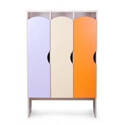 Шкаф детский для одежды КРАСКИ 3 секции (Серия П)