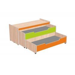 Кровать детская двухъярусная «Мираж-2» выкатная с тумбой (Серия РТ)