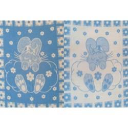 Одеяло п/ш жаккард пл. 400г/м2 детский рисунок (Украина) 140Х100 [кодОП13]