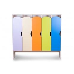 Шкаф детский для одежды КРАСКИ 5 секций (Серия П)