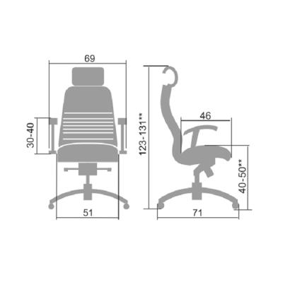 Эргономичное кресло Metta Samurai KL-3.03