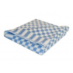 Одеяло байковое клетка (Шуя) 140Х100 [кодОП15]