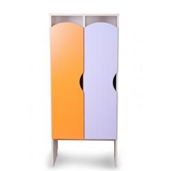 Шкаф детский для одежды КРАСКИ 2 секции (Серия П)