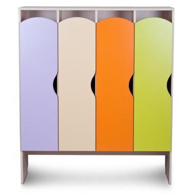 Шкаф детский для одежды КРАСКИ 4 секции (Серия П)