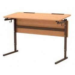 Стол 2-местный регулир. высота и наклон столешницы 0-10° (гр.2-4) Серия В