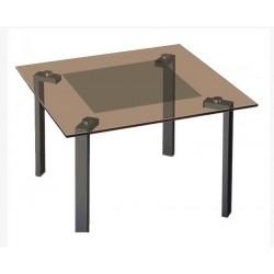Журнальный стол Квадро-22 чёрный-бронза