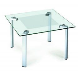 Журнальный стол Квадро-22 алюминий