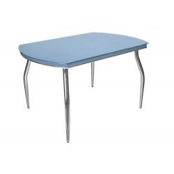 Стеклянный обеденнй стол Галант Хром