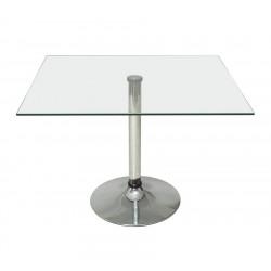 Квадратный стеклянный стол Квадро-90