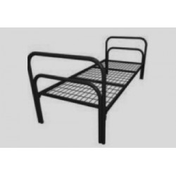Металлическая кровать бытовая «Стандарт»  1900*700-800-900*780